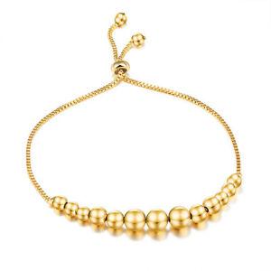 7-9-8-039-039-Fashion-Beads-Bracelet-Chain-Women-18K-Yellow-Gold-Filled-Bangle-Gift