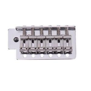 For-Genuine-Fender-Strat-6-Strings-Chrome-Guitar-Tremolo-Bridge-With-Bar-1-Set