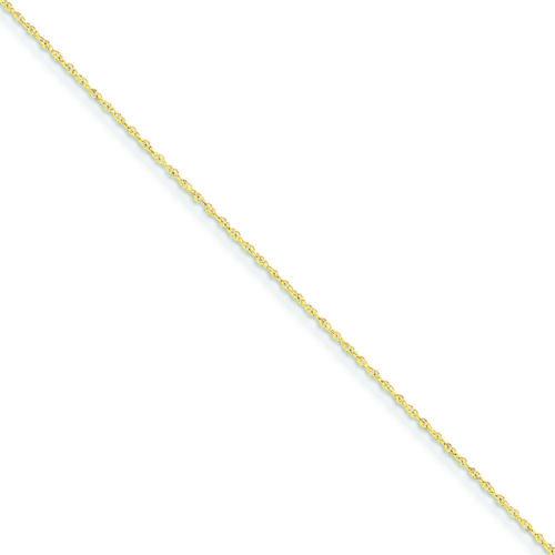 14K Yellow Gold 0.8 MM Light Rope Link Anklet Bracelet 9 MSRP $91