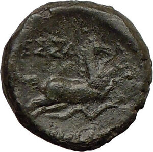 THESSALONICA-Macedonia-187BC-Authentic-Ancient-Greek-Coin-Athena-HORSE-i21970