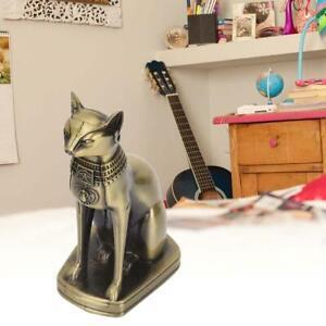 Metal-Bastet-Statue-Egyptian-Cat-Sculpture-Egyptian-Cat-Goddess-Home-Cafes-NEW