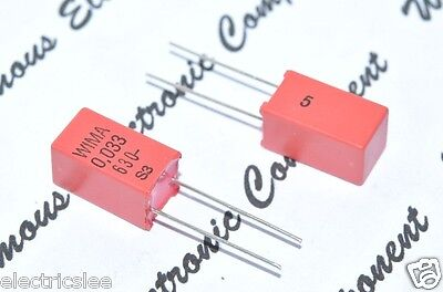630V 5/% pitch:5mm Capacitor 10pcs WIMA FKP2 0.01uF 10nF 0.01µF