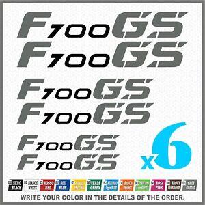 6x-F700-GS-Black-Grey-BMW-Motorrad-Pegatina-Aufkleber-Autocollant-Stickers