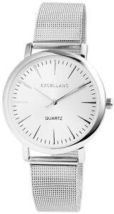 Herrenuhr-Silber-Analog-Metall-Meschband-Armbanduhr-Quarz-D-60463614220600