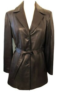 Women's Preston & York Black Lamb Skin, Lined, Long Jacket, New, S, Exceptional