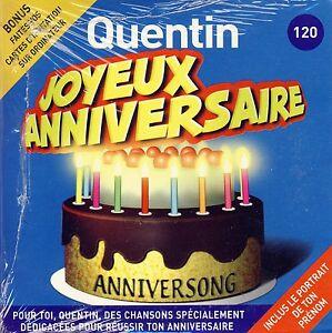 Détails Sur Joyeux Anniversaire Quentin 10 Titres