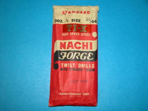 "Japan Nachi 31//64/"" Jobber Length Drill TiN Coated HSS"