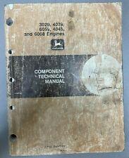 New Listingjohn Deere 3029 4039 6059 4045 Amp 6068 Engines Component Tech Manual Ctm8 W 6