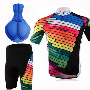 Cycling-Bike-Short-Sleeve-Clothing-Set-Bicycle-Men-Wear-Suit-Jersey-Shorts-M-XXL