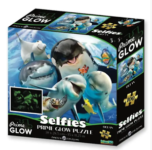 Howard Robinson 100pc Glow Jigsaw Puzzle OCEAN SELFIE  By Prime 3D