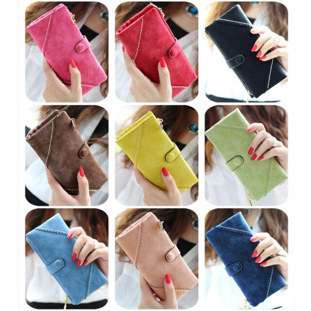 Fashion Style Women's Leather Wallet Button Clutch Purse Lady Long Handbag Bag