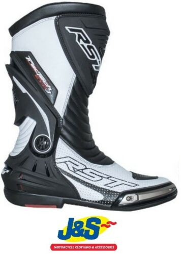 RST Tractech Evo 3 III CE 2101 Sports Motorcycle Boots Race Racing NEW White J/&S