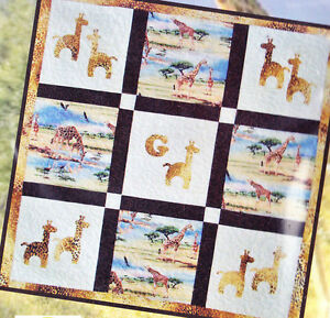 Clearance-G-is-for-Giraffe-fun-pieced-amp-applique-quilt-PATTERN