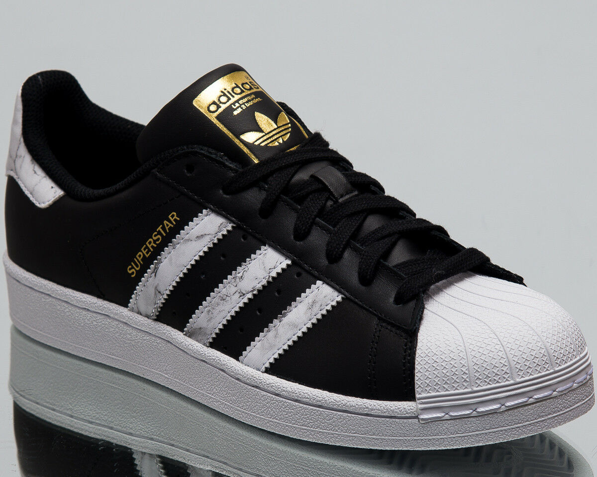 adidas Originals Superstar Men New Sneakers Mens Black White Gold Shoes D96800