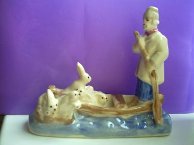 Ceramics & Porcelain Independent Grandfather Mazai And Hares Fairy Tale Russian Porcelain Figurine 7667u