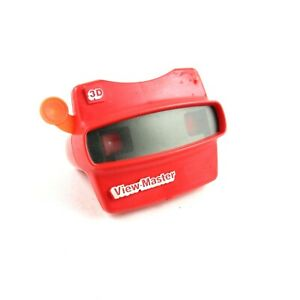 Classic-Viewmaster-3D-Red-View-Master-Viewer-Toy-Tyco-Toys-Inc-Rare-Collectible