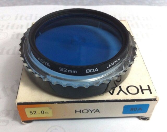 52mm Hoya 80A 80-A 80 A Light Balancing Blue Glass Lens Filter 52 mm B5280AGB