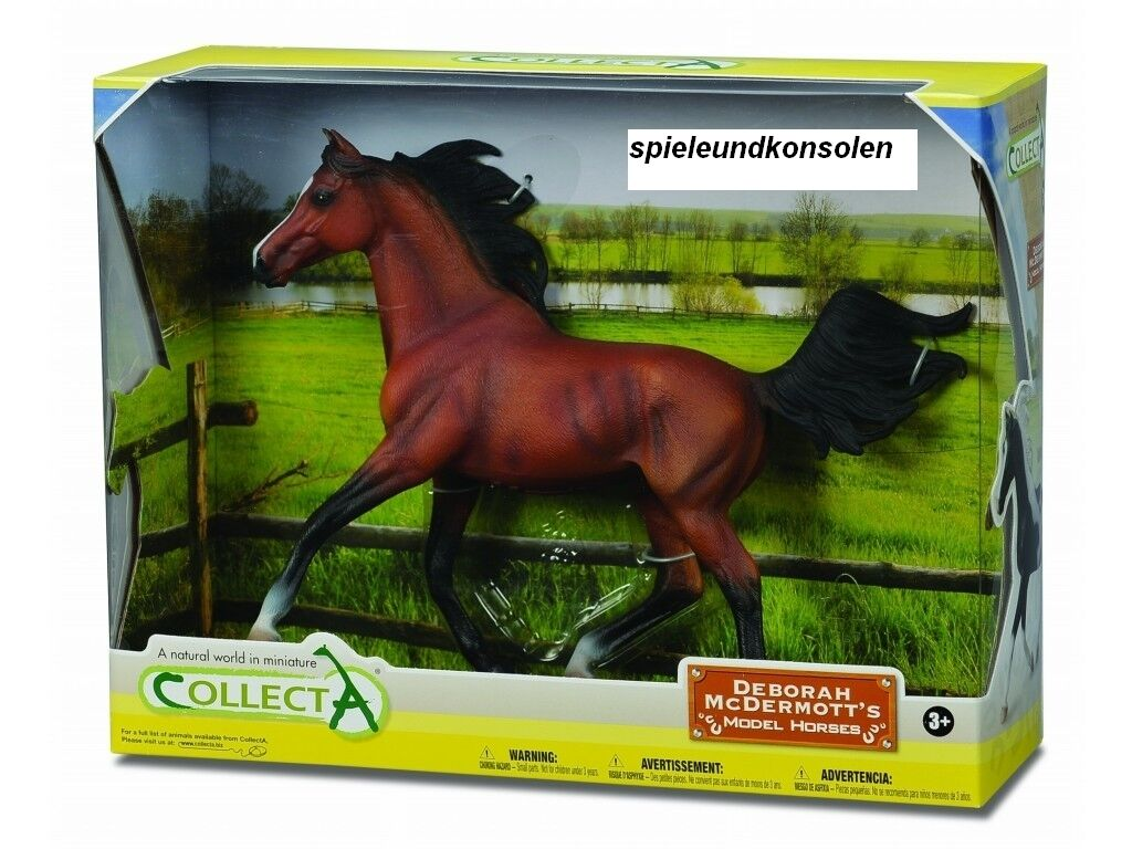 Collecta 89460 Arabian Stallion Bright Bay Deluxe 1 12 Gift Box 24 Cm Pferdewelt
