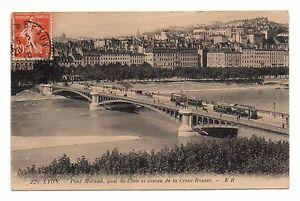 69-CPA-Lyon-Le-Pont-Morand-Quai-st-schein-und-die-Coteau-De-dem-Kreuz
