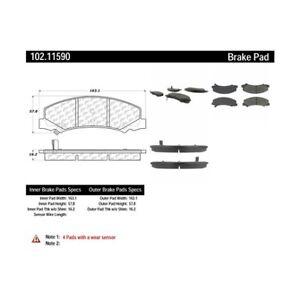 Centric Parts 102.11590 102 Series Semi Metallic Standard Brake Pad