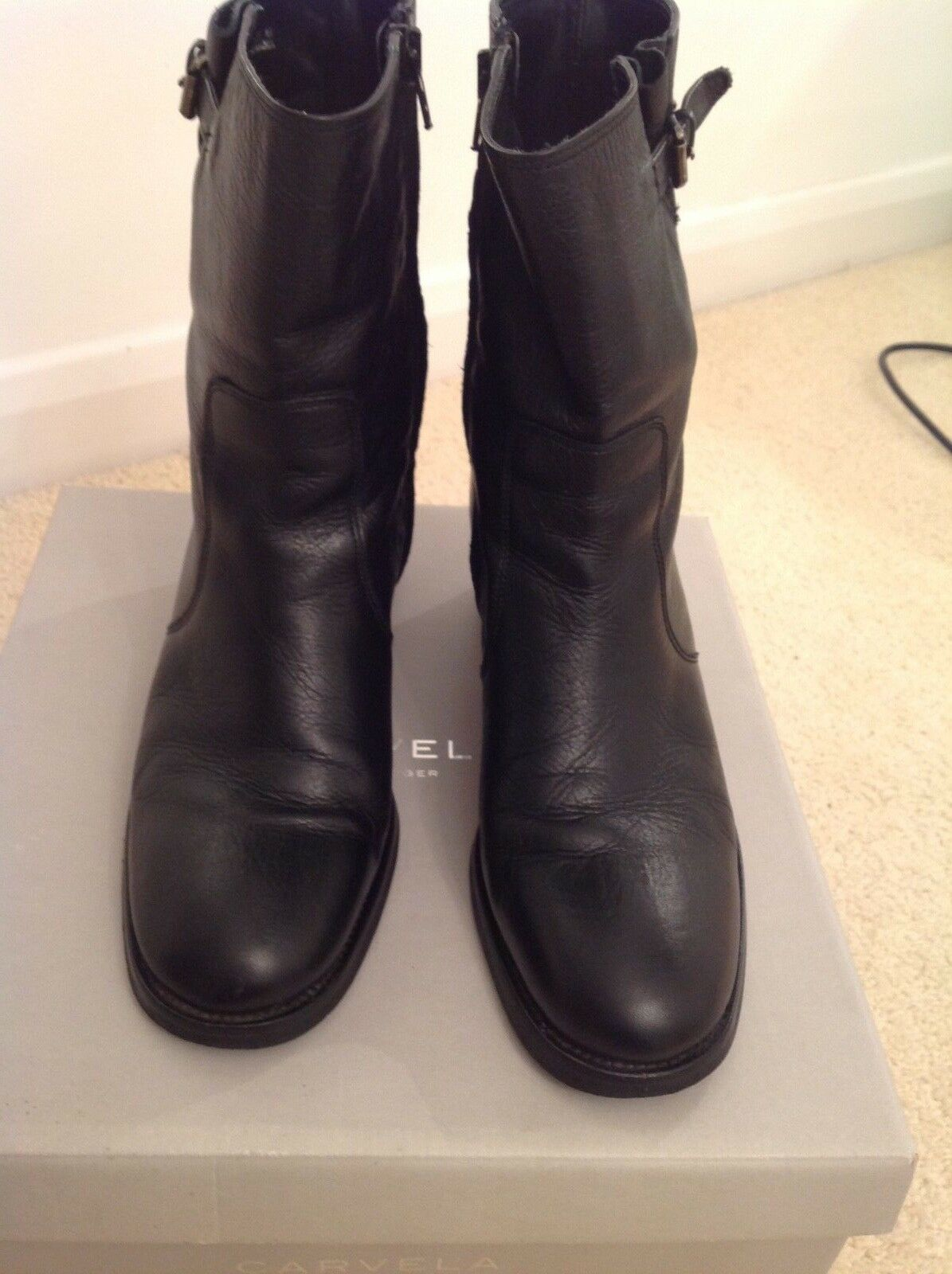 Carvela  black leather leather leather ankle boots c277a9