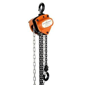 SPECSTAR 10ft Manual Chain Block Puller Hoist W//2 Hooks 1 Ton 2000 lbs Capacity