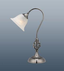 SWAN-NECK-TABLE-LAMP-BARLEY-TWIST-SATIN-CHROME-MURANO-GLASS-SHADE