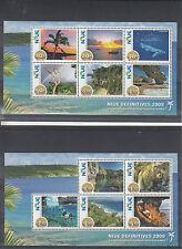 Niue 2009 MNH Scenes Definitives SG#MS1049-50 11v Set 2v Sheets Coconut Palm