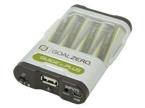 GOAL ZERO Guide 10 Plus Charger Pack  w AA Batteries USB / Solar for IPad Iphone