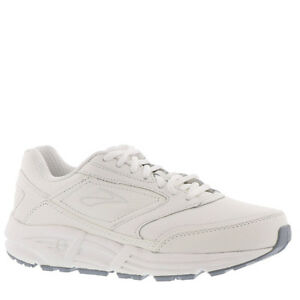 Men-039-s-Brooks-Addiction-Walker-Walking-Shoes-White-Leather-All-Sizes-NIB