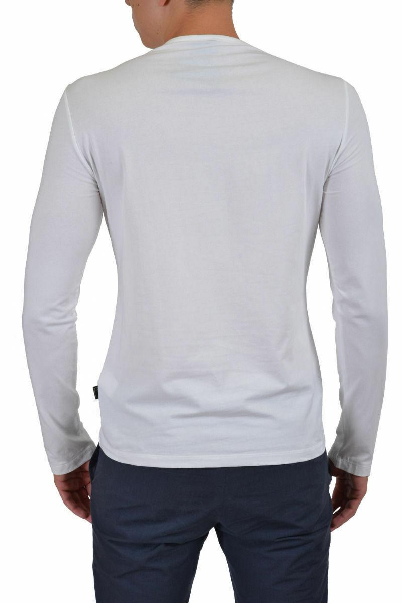 Just Cavalli Herren Weiß Grafik Grafik Grafik Rundhalsausschnitt Langärmeliges T-Shirt Us M XL | Vogue  0bcd01