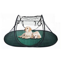 Portable Cat Dog Puppy Play Exercise Pen Pet Tent House Crate Indoor Outdoor