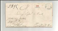 Hannover / NIENBURG blauer K2 auf Kabinett-Paketbegleit-Brief 1861 n. NEUSTADT