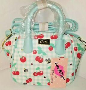 Luv-BETSEY-JOHNSON-Crossbody-Bee-Cherry-Satchel-Handbag-Purse-Handbag-For-Women