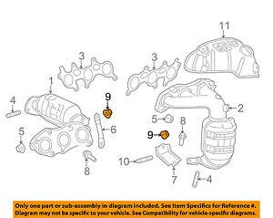 toyota oem 11 16 sienna 3 5l v6 exhaust manifold stay nut left rh ebay com