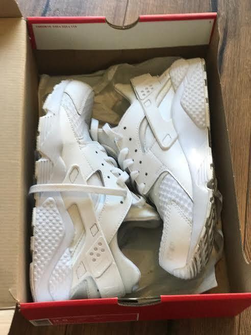 more photos 57bc0 44b28 Nike Nike Nike Air Huarache Triple White Pure Platinum 318429-111 SIZE 9.5  Men women