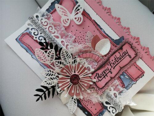 Stanzschablone Blatt Oster Hochzeit Weihnachten Geburtstag Karte Album DIY Deko