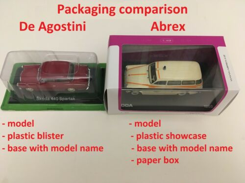 DeAgostini//Abrex****select the model FAMOUS CZECH SKODA CARS COLLECTION //1:43