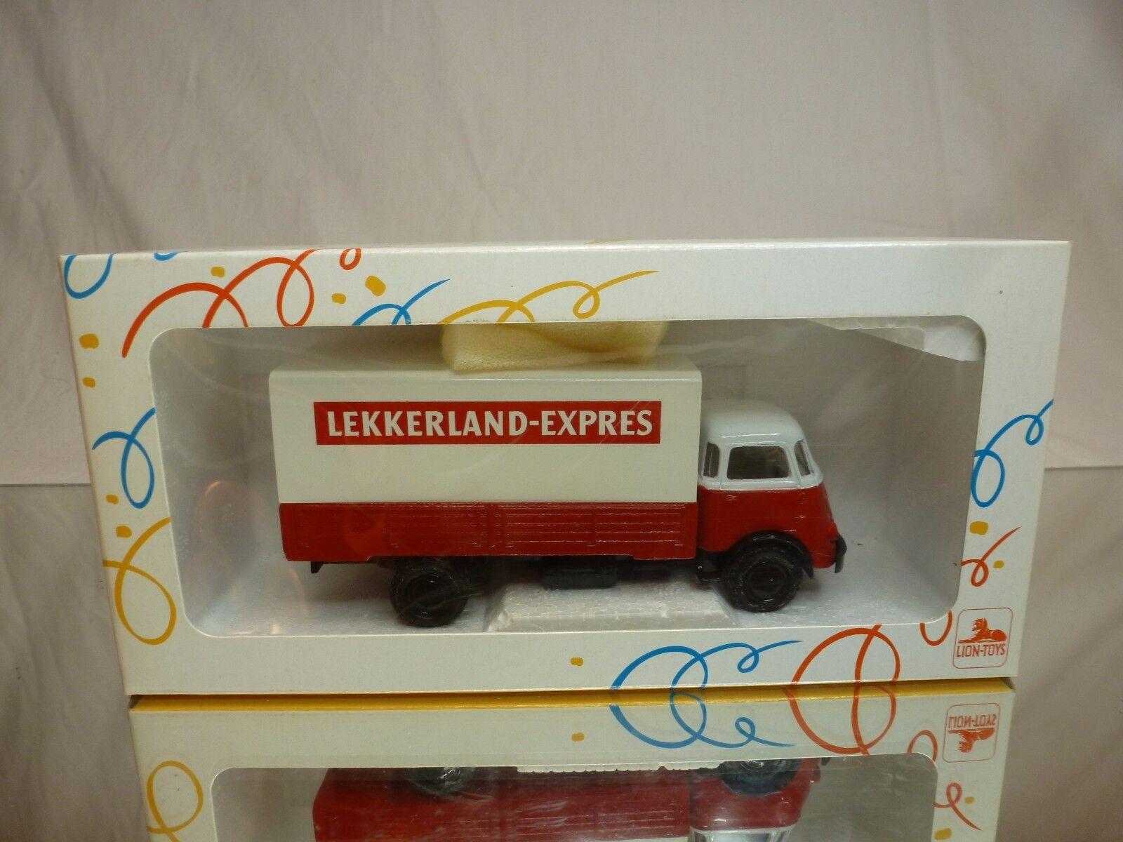 LION  TOYS DAF A50 KIKKER TRUCK - LEKKERLAND - 1 50 RARE - GOOD IN SPECIAL BOX