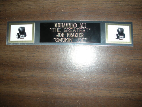 ALI//FRAZIER BOXING NAMEPLATE FOR SIGNED GLOVES//TRUNKS//PHOTO DISPLAY