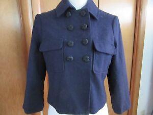 Crop Doublure Bleu Bleu Et Femme Taille Kimchi Court En Avec Veste S 7q5RYO5