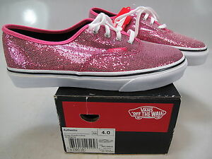 VANS Girls Authentic Glitter Pink Micro Dots Lace-UpAthletic Sneaker ... 20565688d