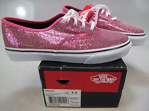 22a5de34be9 VANS Girls Authentic Glitter Pink Micro Dots Lace-UpAthletic Sneaker ...