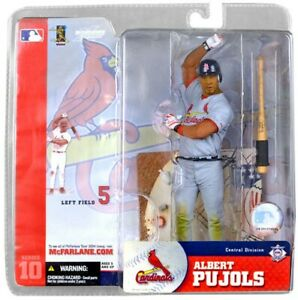 Mlb Sports Picks Series 10 Figurine Albert Pujols variante en jersey gris 643690249795