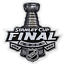 miniature 1 - 2014 NHL Stanley Cup Final Patch New York Rangers Jersey Los Angeles Kings Logo