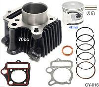 70cc 47mm Piston Cylinder Kit For Chinese Atv Dirt Bike Gokart Mini Chopper 70