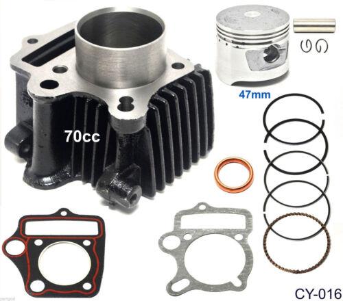 70cc 47mm Piston Cylinder Kit for Chinese ATV Dirt Bike Go Kart Mini Chopper 70