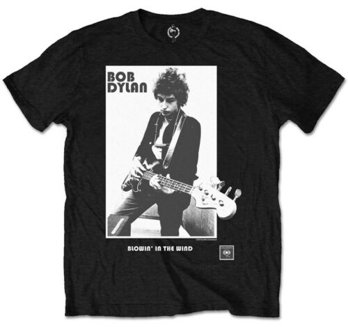 Packaged Black Bob Dylan /'Blowing in the Wind/' Kids T-Shirt NEW /& OFFICIAL!