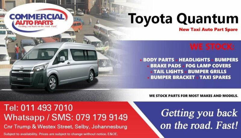 Toyota Quantum Parts and Spares For Sale