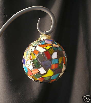 4 in. handmade ONE WORLD mosaic tile ornament
